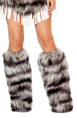 Indian Seductress Fur Legwarmers Front RMLW4475