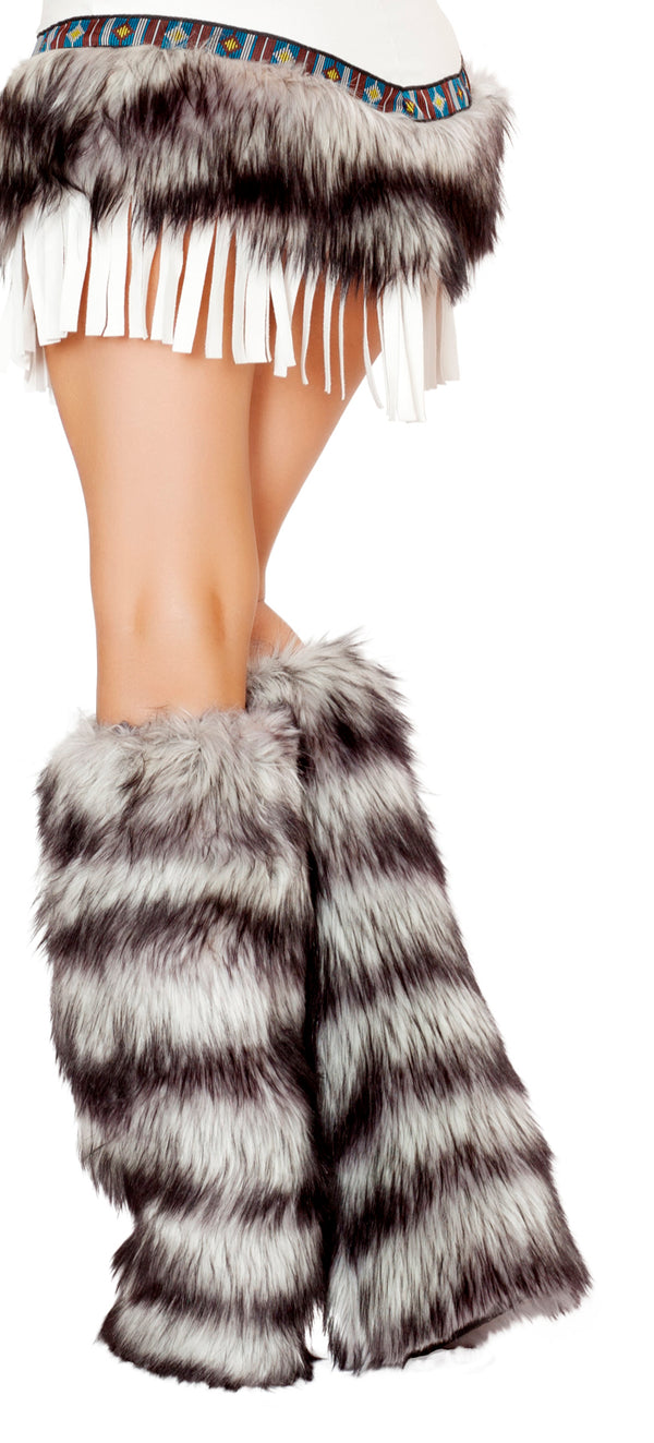 Indian Seductress Fur Legwarmers Back RMLW4475