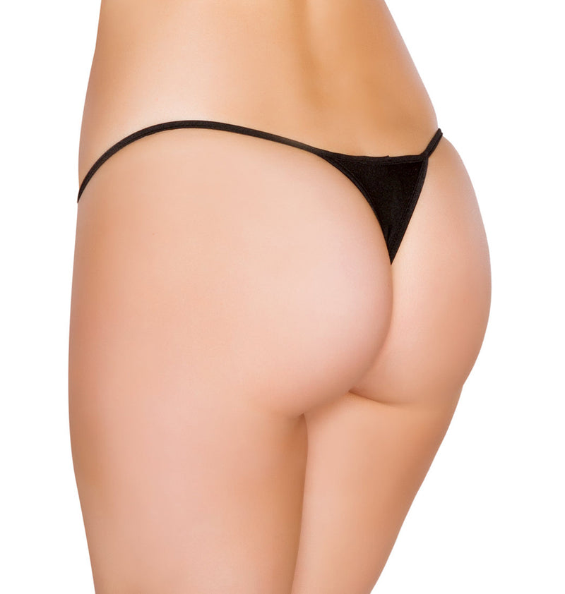 Low Cut Micro Thong back  black