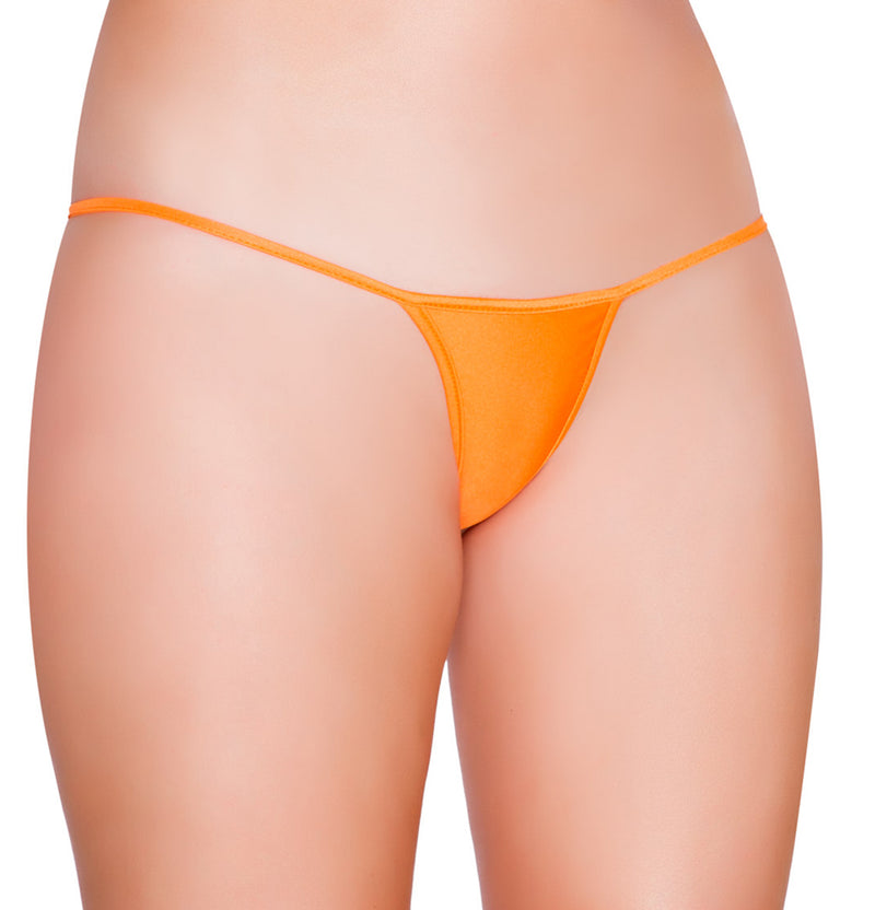 Low Cut Micro Thong Front Orange