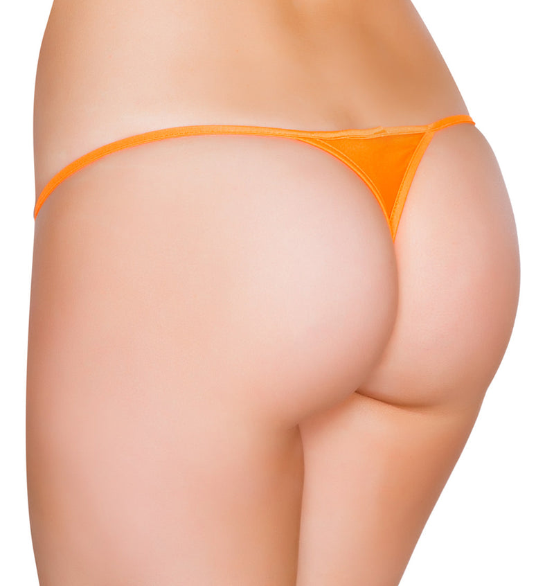 Low Cut Micro Thong back orange