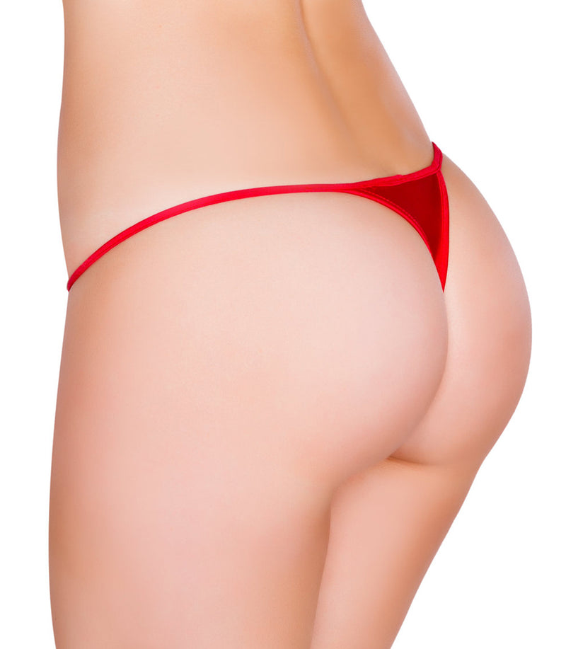Low Cut Micro Thong back red