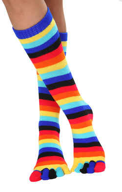 NARA-511 Cute rainbow toe socks Side