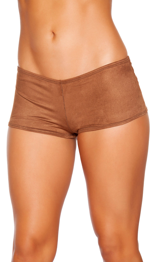 Suede Boy Shorts RMSH224 Brown Front
