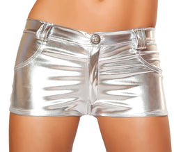 Silver Foil Mini Shorts RMSSH2965