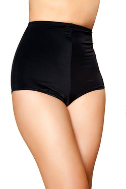 Black High Waisted Shorts RMBSH3090