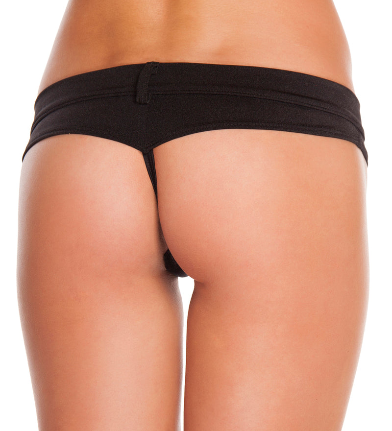 Assorted Colors Extreme Booty Shorts Black Back RMSH3226