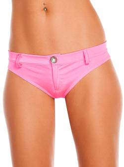Assorted Solid Colors Extreme Booty Shorts Hot Pink Front RMSH3226