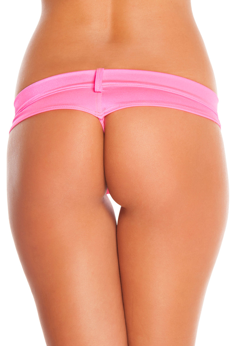 Assorted Solid Colors Extreme Booty Shorts Hot Pink Back RMSH3226