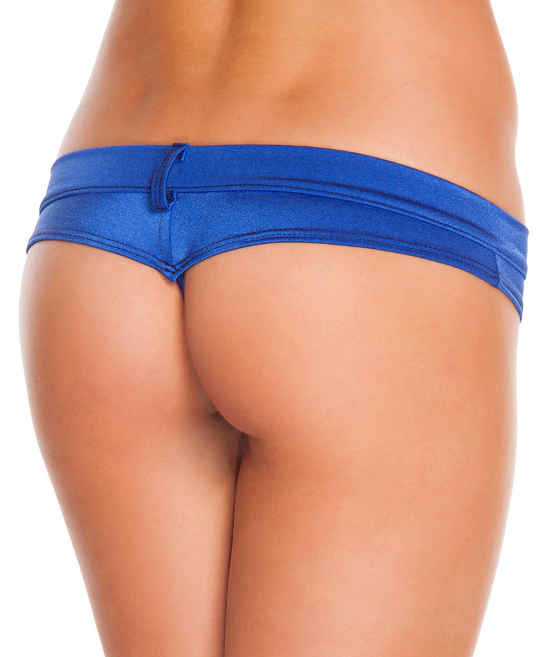 Assorted Solid Colors Extreme Booty Shorts Royal Blue Back RMSH3226