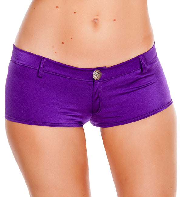 RM-SH3227 Low rise shorts with a button front front purple