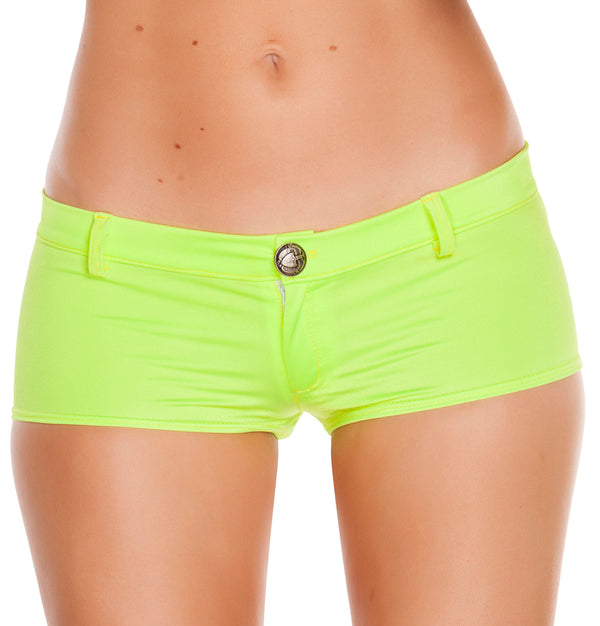 RM-SH3227 Low rise shorts with a button front front yellow