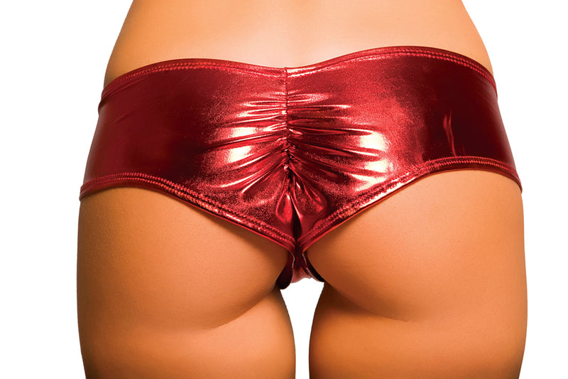 Metallic Pucker Back Mini Short RMSHLQ225