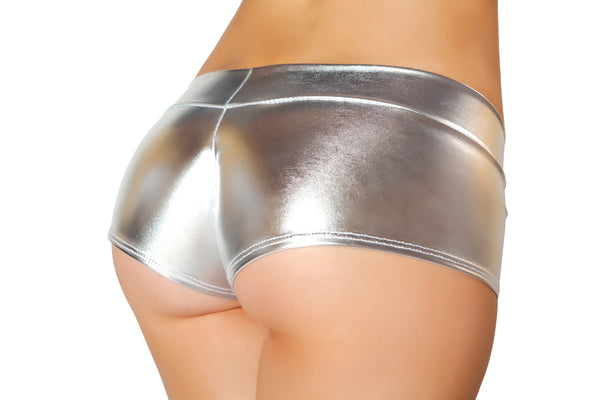 Banded Metallic Shorts RMSHLQ227-BLK back