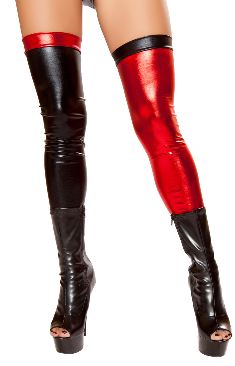 RM-ST10047 Black and Red Jester Leggings