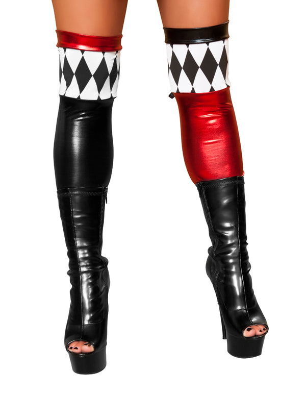 Jester Leg Warmers Black/Red Front RMST4370