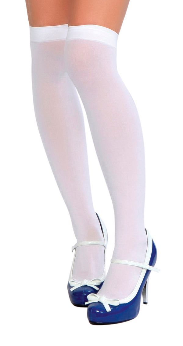 Thigh High White STC201