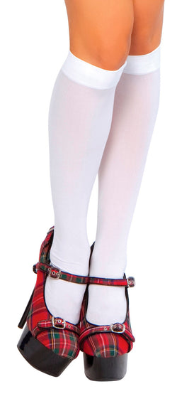 Knee High Stockings White STC202