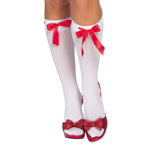 Ribbon Detailed Stockings White RMSTC203