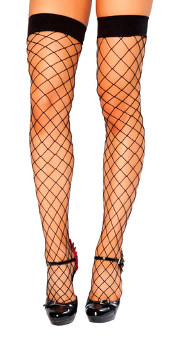Thigh High Open Fishnet Stocking