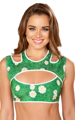 RM-T3266 Cutout Rave Top Grass
