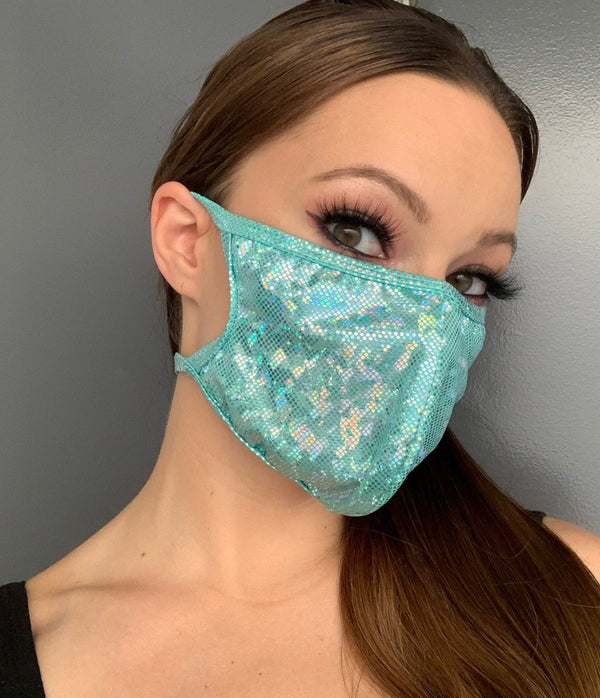 Sparkle Iridescent Face Mask