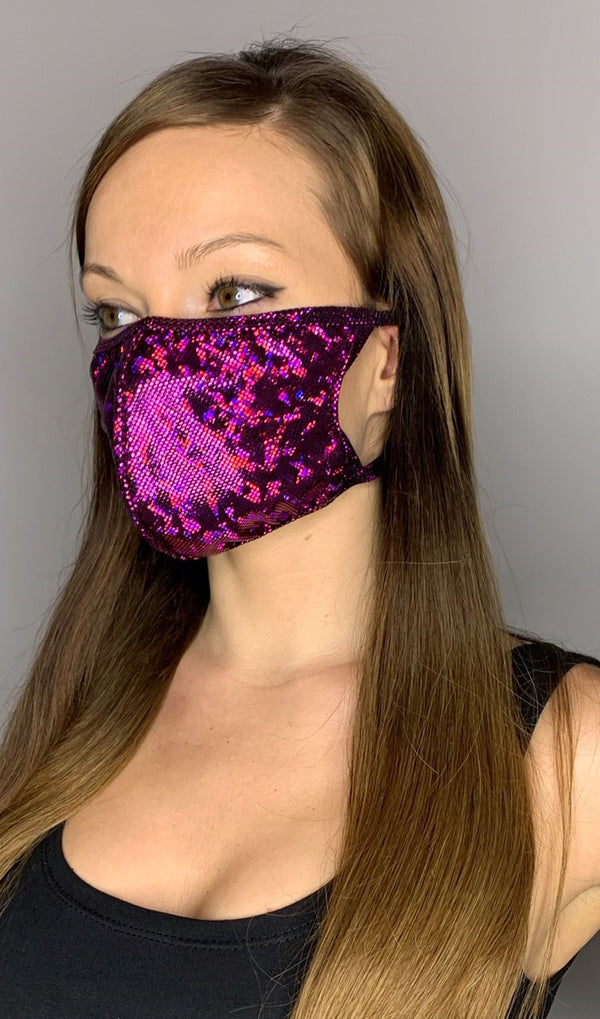 Iridescent Sparkle Face Mask