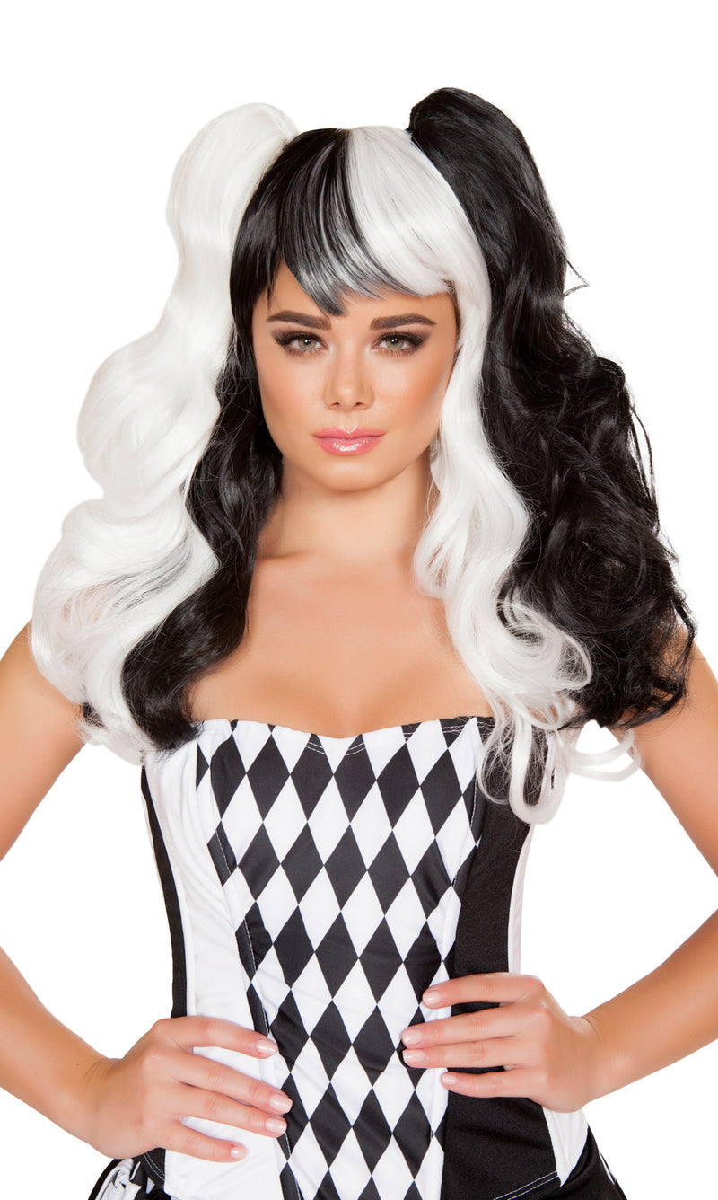 Black and White Jester Wig RM-WIG104