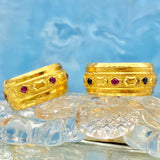 24K Ruby and Sapphire Ring (6550200811571)