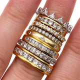 Shared Prong 9 Stone Diamond Ring (4736398655539)