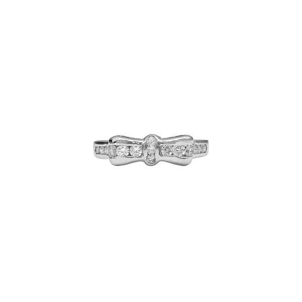 Diamond Bow Ring (4736410714163)