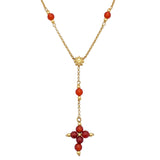 Carnelian Sun Rosary Necklace (4459712708659)