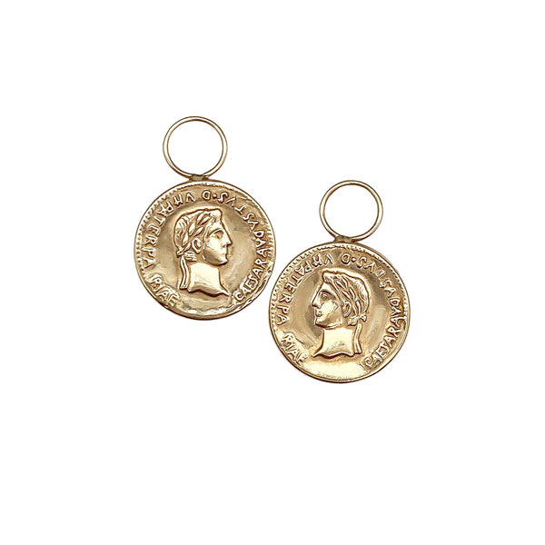 Roman Coin Hoop Charms (6554846396467)