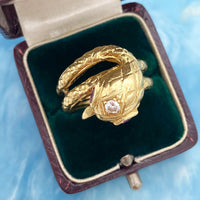 Diamond and Ruby Snake Ring (4730497302579)