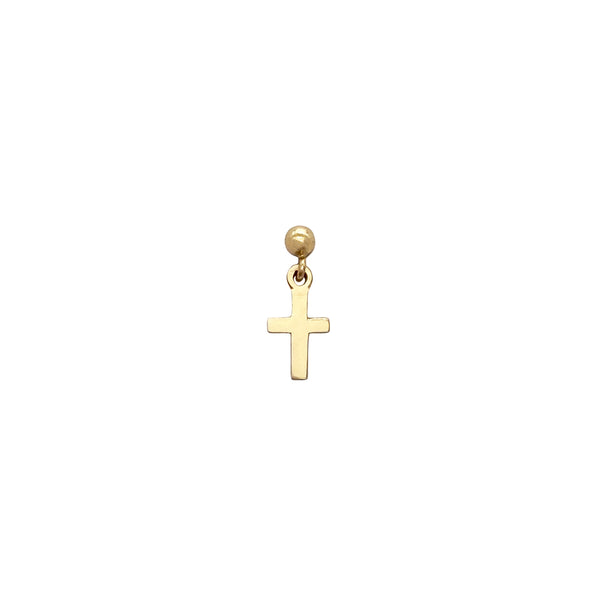 Cross Dangle Earring (4542180130867)