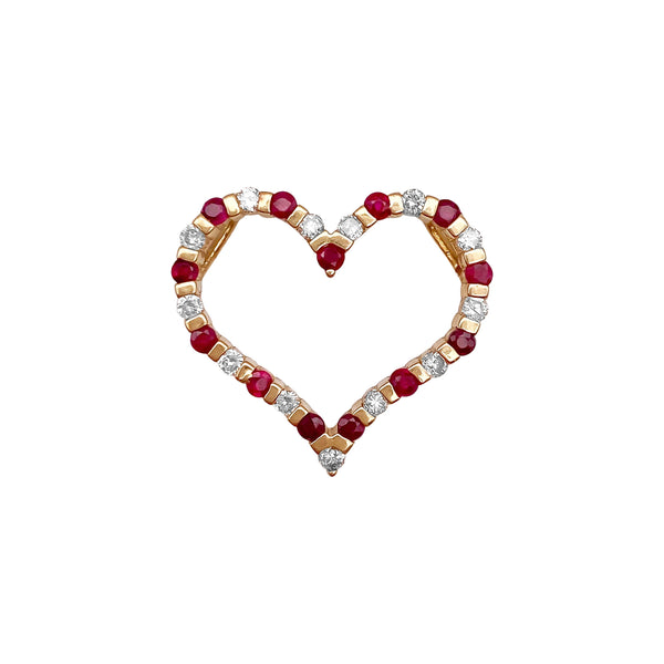 Ruby and Diamond Heart Pendant (4739964829747)