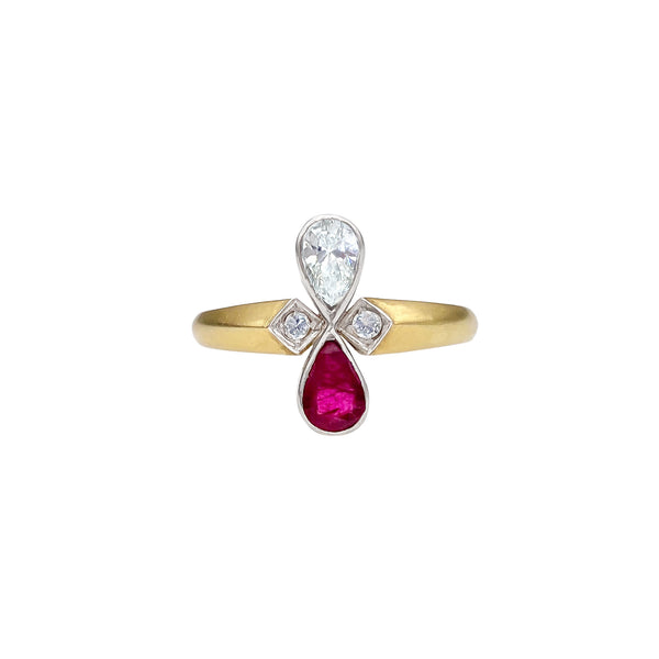 Diamond and Ruby Ring (4742939508787)