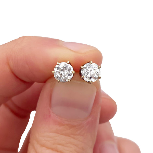Diamond Stud Earrings (4723194101811)