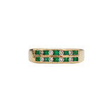 Emerald and Diamond Ring (4736399179827)