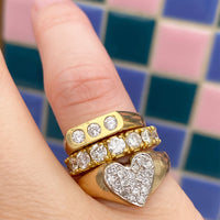 Diamond Heart Ring (4669810704435)