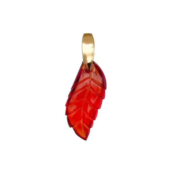 Carved Leaf Charm (6554852229171)