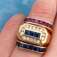 Sapphire and Ruby Band Set (4747667341363)
