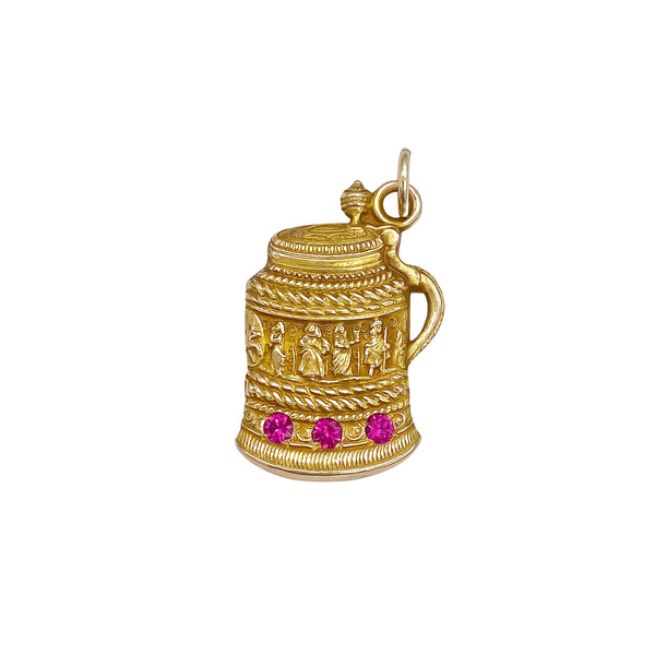 Ruby Beer Stein Charm (4722244124723)