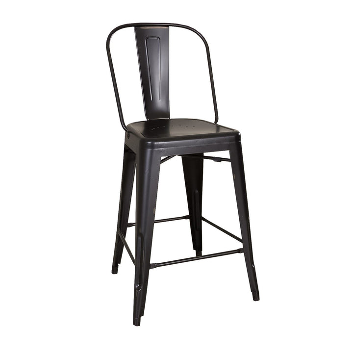 Vintage Series Bow Back Counter Chair - Black