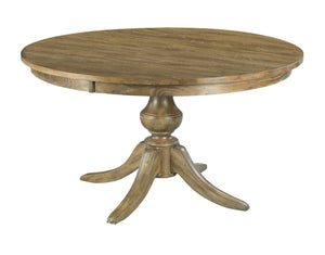 "54"" Round Dining Table With Wood Base"