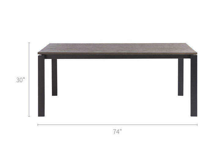 Spaces  - Hamilton Dining Table Oak Top