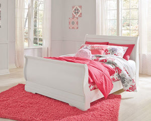 Anarasia Full Sleigh Footboard - White