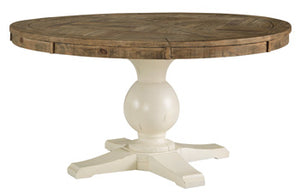 Grindleburg Dining Room Table Base - Antique White