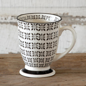 Set of 6 Norden Pattern Footed Mugs