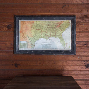 Framed Map of the South